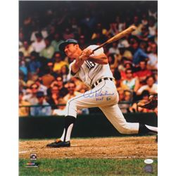 "Al Kaline Signed Tigers 16x20 Photo Inscribed ""HOF 80"" (JSA COA)"