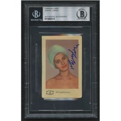 Sophia Loren Signed A Star Bilder #102 Sophia Loren (BGS Encapsulated)