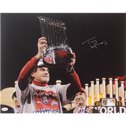 Tony LaRussa Signed Cardinals 2011 World Series Champions 16x20 Photo (JSA COA)