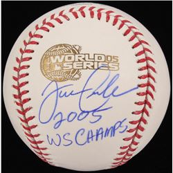 "Joe Crede Signed 2005 World Series Logo Baseball Inscribed ""2005 WS Champs"" (Schwartz COA)"