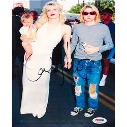Courtney Love Signed 8x10 Photo with Kurt Cobain (PSA COA)