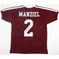 "Johnny Manziel Signed Texas AM Aggies Jersey Inscribed ""'12 HT"" (JSA COA)"