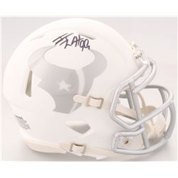 J. J. Watt Signed Texans White ICE Speed Mini-Helmet (JSA COA  Watt Hologram)