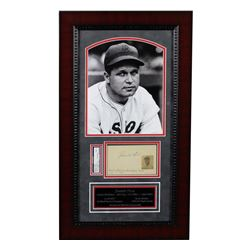 Jimmie Foxx Signed Red Sox 13x20 Custom Framed Index Card Display (PSA Encapsulated - Autograph Grad