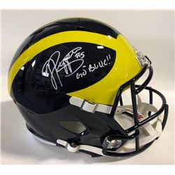 """Jabrill Peppers Signed Michigan Wolverines Full-Size Speed Helmet Inscribed """"Go Blue!!"""" (JSA COA)"""