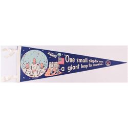 1969 Vintage Original Apollo 11 Pennant with Neil Armstrong, Buzz Aldrin  Michael Collins