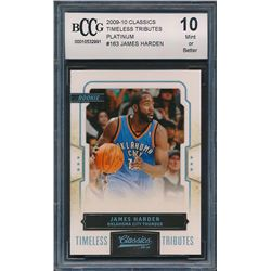 2009-10 Classics Timeless Tributes Platinum #163 James Harden (BCCG 10)