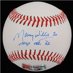 "Maury Wills Signed Baseball Inscribed ""MVP NL '62"" (PA COA)"