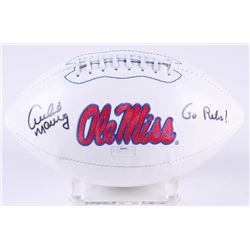"Archie Manning Signed Ole Miss Rebels Logo Football Inscribed ""Go Rebs!"" (Radtke COA)"