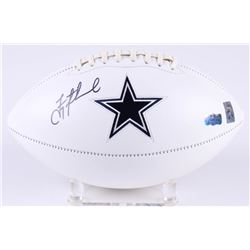 Troy Aikman Signed Cowboys Logo Football (Radtke Hologram  Aikman Hologram)