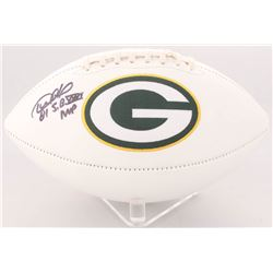 "Desmond Howard Signed Packers Logo Football Inscribed ""S.B. XXXI MVP"" (Radtke COA)"