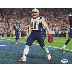 Julian Edelman Signed Patriots 8x10 Photo (PSA COA)
