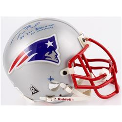"Tom Brady Signed LE Patriots Mini Helmet Inscribed ""Do You Believe In Miracles?"" (TriStar Hologram)"