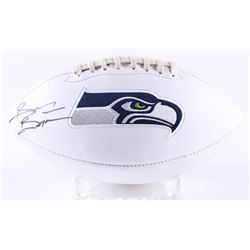 Brian Bosworth Signed Seahawks Logo Football (JSA COA)