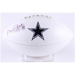 "Daryl Johnston Signed Cowboys Logo Football Inscribed ""Moose"" (Radtke COA)"