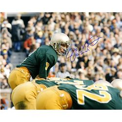 "Joe Montana Signed Notre Dame Fighting Irish 16x20 Photo Inscribed ""Go Irish"" (Steiner COA)"