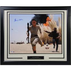 "Daisy Ridley Signed ""Rey Running With Finn"" 16x20 Photo (PSA  Steiner COA)"
