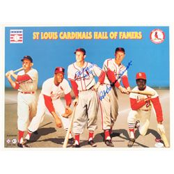 """Stan Musial  Red Schoendienst Signed Cardinals Hall of Famers 16x20 Photo Inscribed """"HOF 69"""" (JSA  S"""