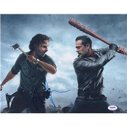 """Andrew Lincoln Signed """"The Walking Dead"""" 11x14 Photo (PSA COA)"""