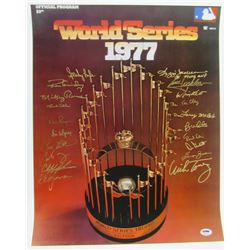1977 Yankees 16x20 Photo Team-Signed by (20) with Reggie Jackson, Ron Guidry, Sparky Lyle, Ed Figuer