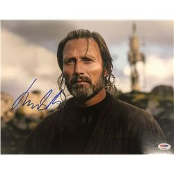 """Mads Mikkelsen Signed """"Rogue One: A Star Wars Story"""" 11x14 Photo (PSA COA)"""