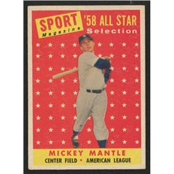 1958 Topps #487 Mickey Mantle All Star TP