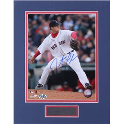 Jonathan Papelbon Signed Red Sox 11x14 Custom Matted Photo Display (New England Picture COA  MLB Hol
