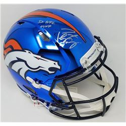 Peyton Manning Signed LE Broncos Full-Size Authentic On-Field Custom Chrome Speed Helmet Inscribed ""