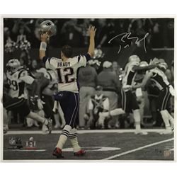 "Tom Brady Signed Patriots ""Super Bowl 51 Touchdown Celebration"" 20x24 Limited Edition Photo (Steiner"