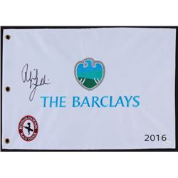 Phil Mickelson Signed 2016 The Barclays Pin Flag (JSA COA)