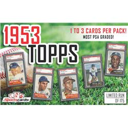 """1953 Topps Baseball Pack"" 1 to 3 CARDS PER PACK! MOST PSA GRADED!"
