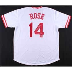 "Pete Rose Signed Phillies Jersey Inscribed ""Hit King"" (JSA COA)"