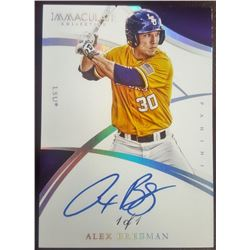2015 Immaculate Collection Collegiate Multisport Platinum #384 Alex Bregman