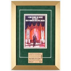 """Disney """"Great Moments With Mr. Lincoln"""" 12x17 Custom Framed Photo with Vintage Ticket"""