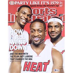 Dwayne Wade Signed Sports Illustrated Cover 11x14 Photo (Beckett COA)