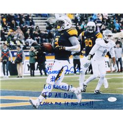 """Kareem Hunt Signed Toledo Rockets 11x14 Photo Inscribed """"Go Rockets"""", """"TD All Day""""  Catch Me If You"""