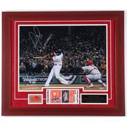 """David Ortiz Signed Red Sox 23x27 Custom Framed Photo Display Inscribed """"13' WS. Champs"""" with World S"""