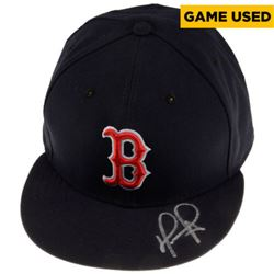 David Ortiz Signed Red Sox Game-Used New Era Hat (Fanatics Hologram  MLB Hologram)