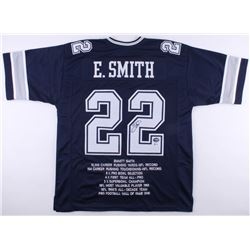 Emmitt Smith Signed Cowboys Career Highlight Stat Jersey (Beckett COA  PROVA Hologram)