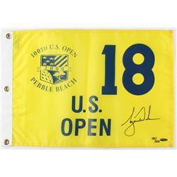 Tiger Woods Signed LE 2000 Pebble Beach 100th US Open Championship Pin Flag (UDA Hologram)
