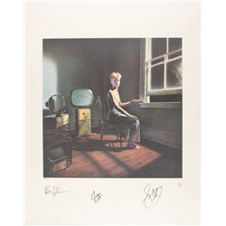 "Geddy Lee, Neil Peart  Alex Lifeson Signed Rush ""Power Windows"" 22x28 Limited Edition Lithograph (JS"
