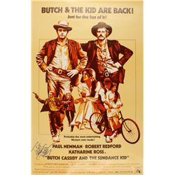 "Paul Newman Signed ""Butch Cassidy and the Sundance Kid"" 30x40 Movie Poster (JSA LOA)"