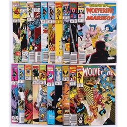 "Lot of (21) Marvel Comic Books with ""Wolverine"""