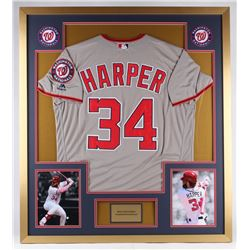 Bryce Harper Nationals 34x38 Custom Framed Jersey Display