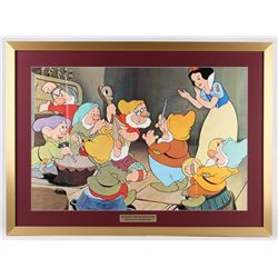 "1975 ""Snow White and the Seven Dwarfs"" 25.5x35 Custom Framed Cut Display"