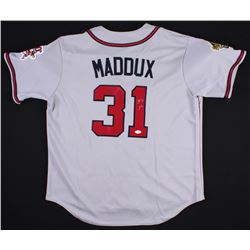 Greg Maddux Signed 1995 World Series Braves Jersey (JSA LOA)