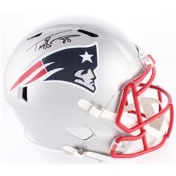 Troy Brown Signed Patriots Full-Size Speed Helmet (Beckett COA)