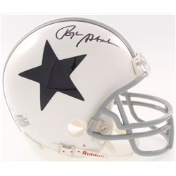 Roger Staubach Signed Cowboys Throwback Mini Helmet (JSA COA)