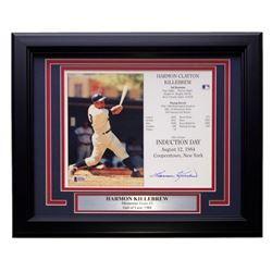 Harmon Killebrew Signed Twins 22x27 Custom Framed Career Highlight Stat Card Display (Beckett COA)