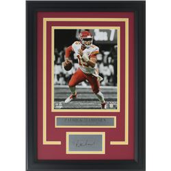 Patricks Mahomes Chiefs 11x18 Custom Framed Photo Display